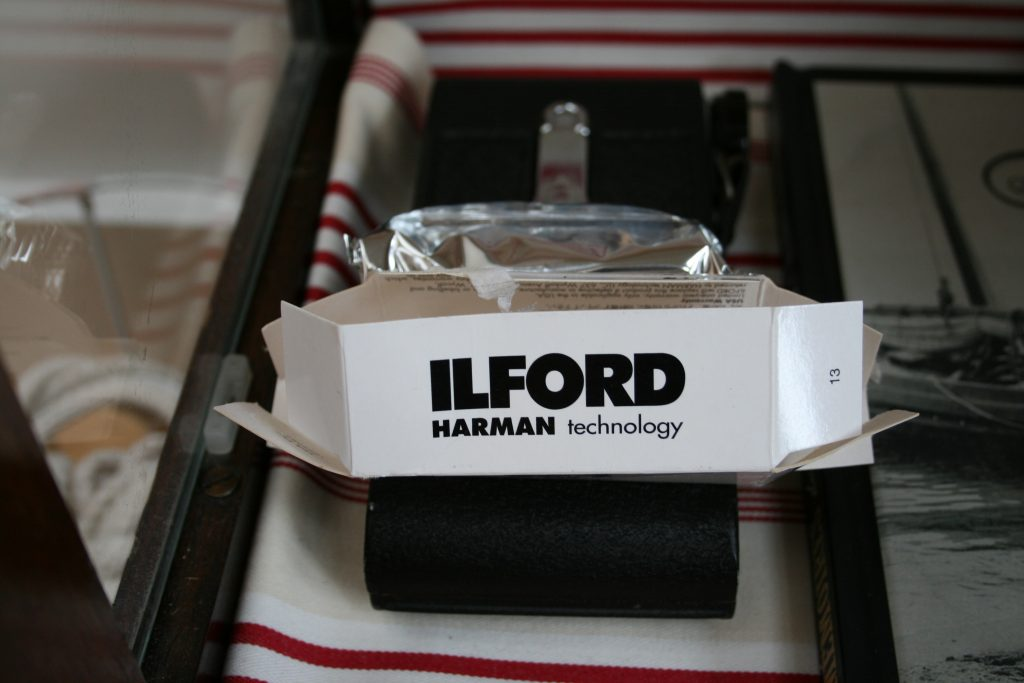 Open Ilford film packet