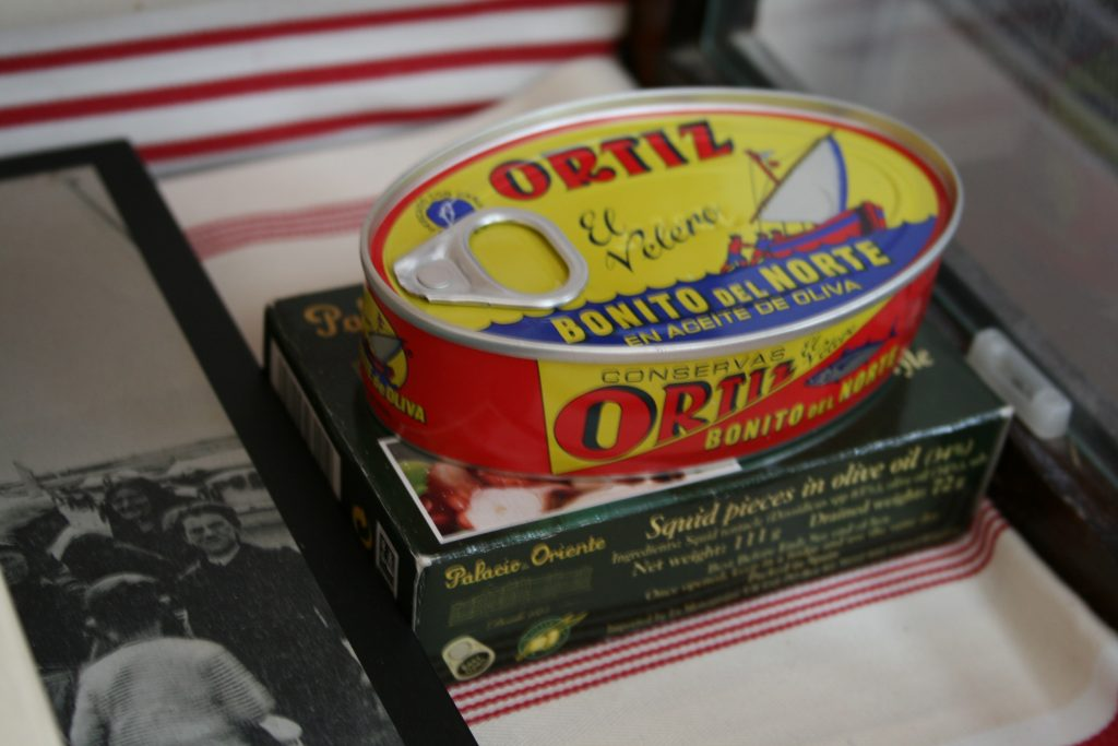 Colourful tin of Ortiz tuna