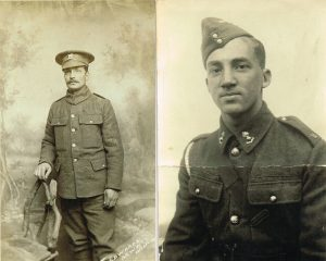 Two vintage portraits of soldiers